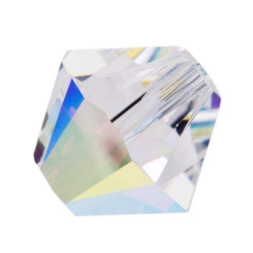 SWAROVSKI ELEMENTS Bicones 5328 4mm Crystal AB (50 Beads)
