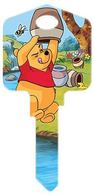Hillman Fasteners 87628 Disney Key KW1 Winnie The Pooh-Hug Me Painted Key Blank
