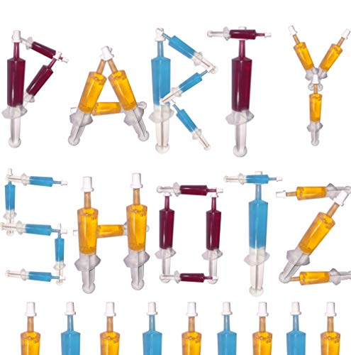 60 Pack Party Shotz Jello Shot Syringes (Medium 1.5oz with CAPS)