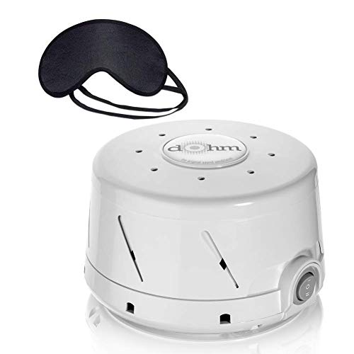 Marpac Dohm-DS All Natural Sound Machine & Zonoz Sleepy Eyez Lightweight Sleeping Mask (Grey) (Marpac Dohm Ds Dual Speed Sound Conditioner)