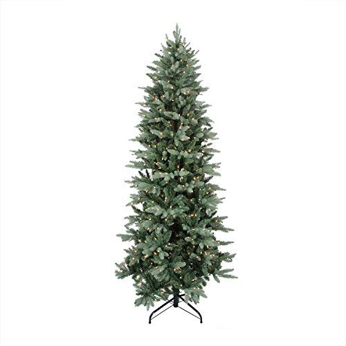 Northlight 31451090 Pre-Lit Washington Frasier Fir Slim Artificial Christmas Tree with Clear Lights, 10' - Artificial Frasier Fir