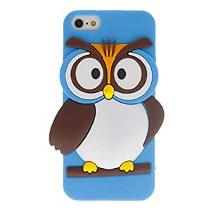 get Cartoon Style 3D Owl Pattern Case for iPhone 5/5S (Assorted Colors) , Blue