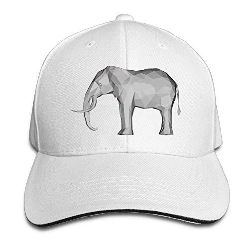 Wrpios Men's Athletic Baseball Fitted Cap Hat 3D Elephant Durable Baseball Cap Hats Adjustable Peaked Trucker Cap NJ746