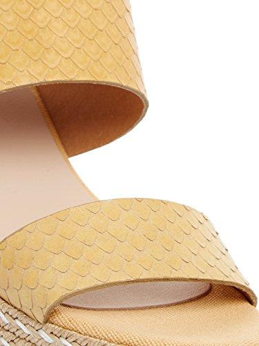 Kanna - Sandalias de vestir de Cuero para mujer amarillo amarillo amarillo