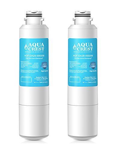 AQUACREST DA29-00020B Replacement for Samsung DA29-00020B, DA29-000020A, HAF-CIN/EXP, 46-9101 Refrigerator Be unfeasible Filter(Pack of 2)