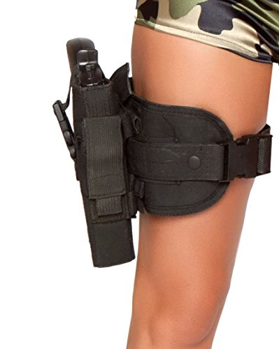 Roma Costume Gun Leg Holster As Shown, Black, One (Costume Gun Leg Holster)