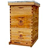 Hoover Hives 10 Frame Langstroth Beehive Dipped in 100% Beeswax Includes Wooden Frames & Waxed Foundations (2 Deep Boxes…