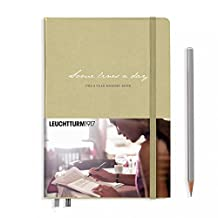 "Leuchtturm1917 Some Lines A Day 5 Year Memory Book Journal - Medium (A5) 5.71"" x 8.27"" - Sand"