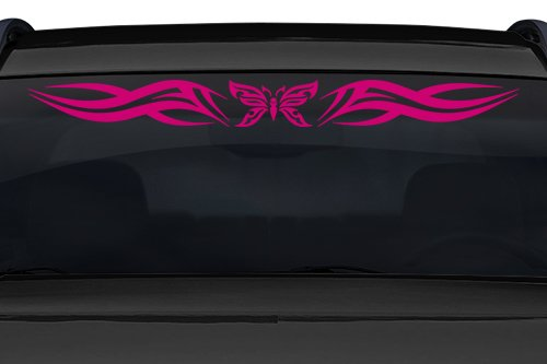 Sticky Creations - Design #140-01 Butterfly Tribal Swoosh Windshield Decal Sticker Vinyl Graphic Back Rear Window Banner Tailgate Car Truck SUV Van Go Cart Boat Trailer Wall | 36