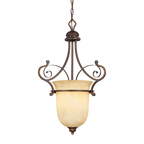 Millennium Lighting 1053-RBZ Chateau 1-Light Foyer/Hall Lantern in Rubbed Bronze ()