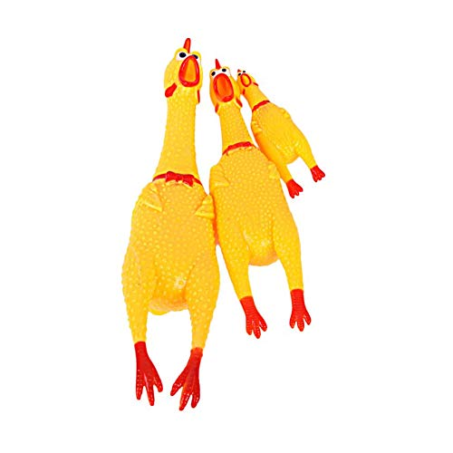 Screaming Rubber Chicken Squeeze Sound Toy for Children Adult Stree Relief