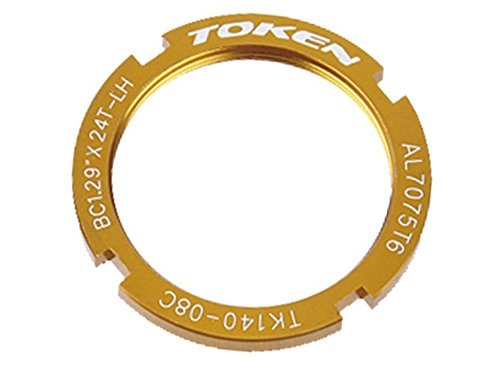 Token Products Lock Ring for Track Fixed Gear Sprocket, Gold Gold Lock Rings