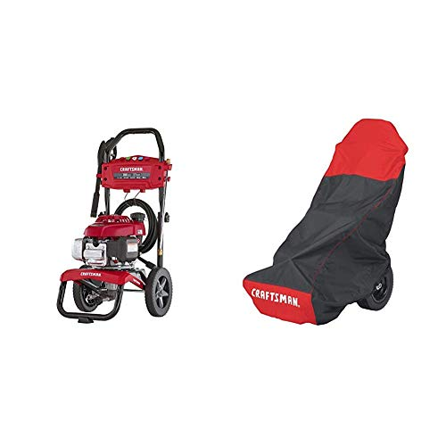 CRAFTSMAN CMXGWAS021023 3100 MAX PSI 2.7 MAX GPM Gas Pressure Washer Powered by Honda 187cc Engine, Made in USA with Global Materials With Craftsman Gas Pressure Washer Cover