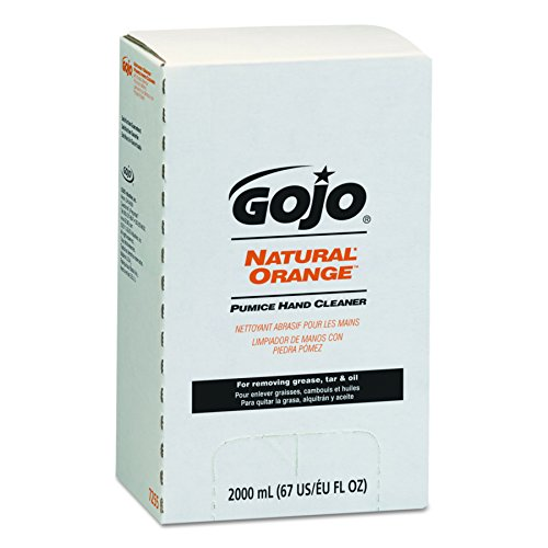 GOJO NATURAL ORANGE Pumice Hand Cleaner Refill- Industrial Cleaner, 2000mL Refill for GOJO PRO TDX Dispenser (Case of 4) - 7255-04 - Industrial Hand Cleaner