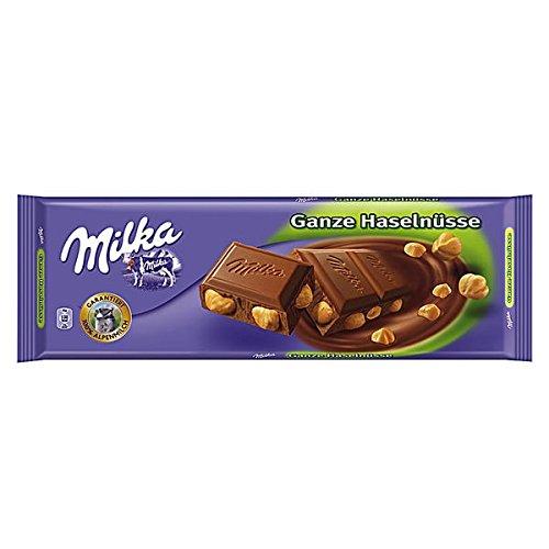 World's Best Milka Chocolate - Whole Nuts, 10 Bars