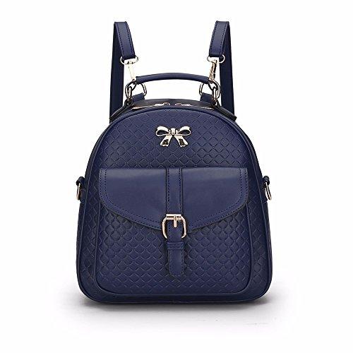 GQFGYYL Bolso de Hombro de la Mujer slanchs Solo Hombro Mochila para Pequeñas Frescas,Black Azul