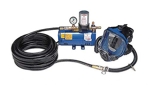Supplied Air Pump Package, 1-1/2 HP, People Served: 3, Headgear Included: Full Face - Package Supplied Air Pump