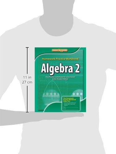 glencoe algebra 2 homework practice workbook answers