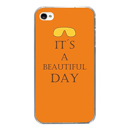 """Disagu Design Case Coque pour Apple iPhone 4s Housse etui coque pochette """"IT´S A BEAUTIFUL DAY"""""""