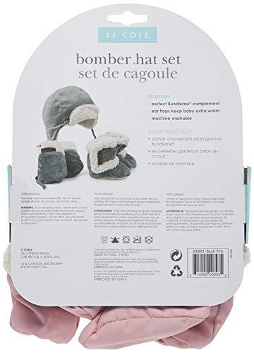 JJ Cole Bomber Baby Hat Set, Blush Pink