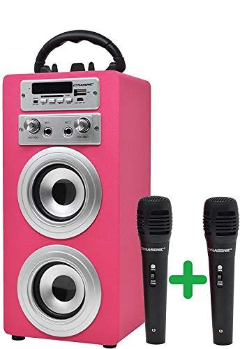 DYNASONIC (3º Generación) Karaoke con micrófono Infantil, Altavoz con microfono Karaoke para Cantar Incluido (Dos…