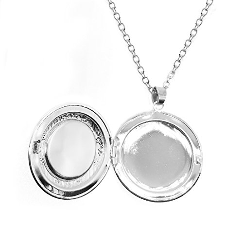 Women's Custom Locket Closure Pendant Necklace Dragon Eyes Included Free Silver Chain, Best Gift Set by LooPoP (Image #2)