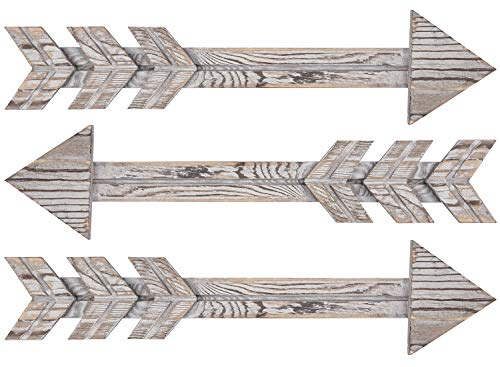 TIMEYARD Wood Arrows Wall Decor, Set of 3 Farmhouse Arrow Sign, Decorative Rustic Home Wall Hanging Decor - Rustic Wall Decor: This decorative wood arrows can be either rustic, country, BOHO, bohemian, vintage, tribal, hippie, shabby chic, farmhouse, and fits the woodlands themes perfectly! Suitable for Multiple Scenes: Each arrow is finished with a stain to enhance the natural grain of the wood. This country rustic wall decor features a dimensional construction that will add a unique touch to your nursery, wall gallery, living room or bedroom. Easy to Mount: The two sawtooth hangers at the back of the arrow are lengthwise near the top of the arrow. You can hang them easily in any direction to add a rustic charm to any room. - living-room-decor, living-room, home-decor - 41cdh10WzEL -