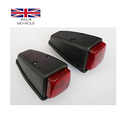 2 X RED SIDE MARKER ROOF CABIN LAMP INDICATOR TRUCK BUS PICK UP E-MARKED VAN CE EAS LTD