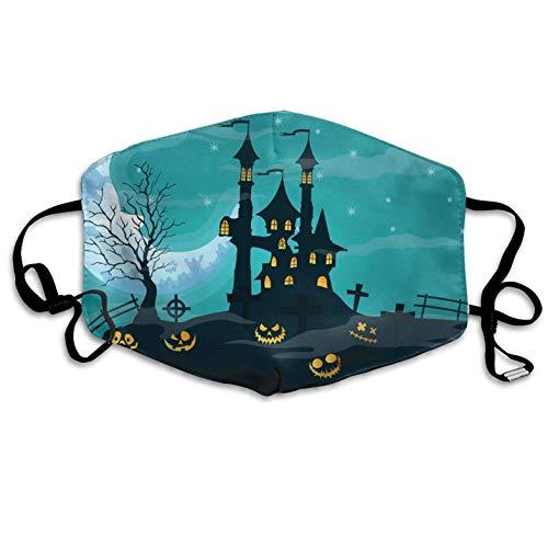 Halloween Pumpkin Pattern Mouth Masks Unisex Anti-Dust Flu Mouth Mask Fashion Design for Girls Women Boys Men]()