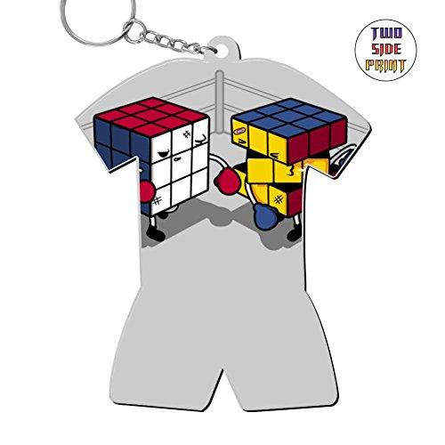 Custom Keychain Cube Fight! Keyring World Cup Polo Shirt Logo Key Ring Key Fob Alloy Nice Gift