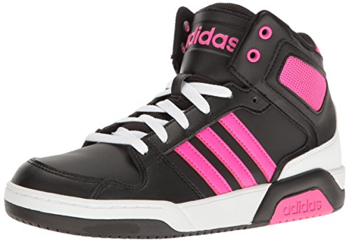 adidas NEO Girls' BB9TIS K Sneaker, Black/Shock Pink/White, 4.5 M US Big Kid by adidas