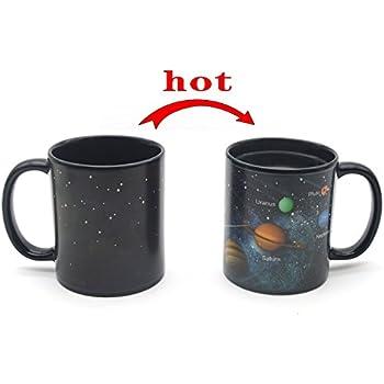 Heat Changing Solar System Magic Coffee Mug Heat Sensitive Porcelain Tea Cup(10 OZ) - by Antspirit