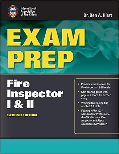 Exam Prep Fire Inspector I II Dr Ben Hirst Performance