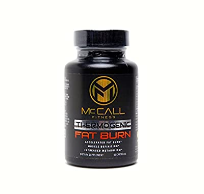 Powerful Thermogenic Fat Burner Supplement - Aids With Weight Loss & Energy - Capsimax , TeaCrine & Paradoxine ( Grains of Paradise ) Included - We Help With Diet & Workout Plans McCall Fitness
