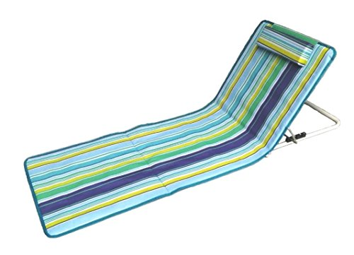 🥇 Hosa – Colchoneta de Playa con Respaldo Regulable y Cojín Reposacabezas – Tumbona Plegable para Piscina