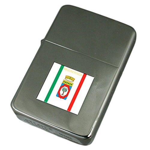 Engraved Lighter Apulia Region Italy Flag by Select Gifts