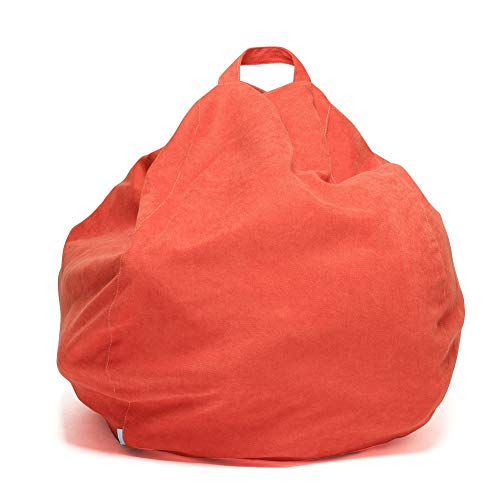 - YuppieLife Kids Toys Organizer/Toy Storage Bag Extra Large Size 38-inch/Orange Large Bean Bag Cover Candy-Colored Bean Bag/Stuffed Animals Bean Bag Chair Cover(38''Dark Orange)