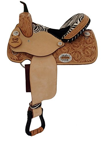 Alamo Barrel Racing Zebra Saddle