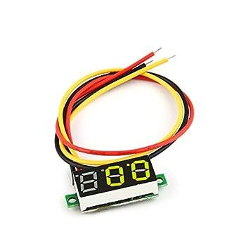 0-100V 0.28in 3 Wire LED Digital Display Panel Voltmeter Electric Voltage Meter Volt Tester for Auto Battery Car Motorcycle