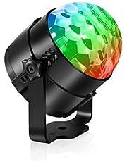 مصابيح LED للحفلات UK Plug Lighting DJ Light مع جهاز تحكم عن بعد، سماعات ديسكو السحرية تضيء بالصوت أضواء حفلات عيد ميلاد للمسرح لغرفة المنزل الرقص KTV عيد الميلاد عرض حانة (قابس المملكة المتحدة)