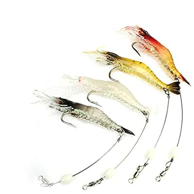 Soft Shrimp Bait with Weighted Hook Sinking Fishing Lure for Freshwater