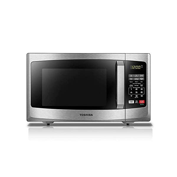Toshiba EM925A5A-SS Microwave Oven with Sound On/Off ECO Mode and LED Lighting 0.9 cu. ft. Stainless Steel (Renewed) 1