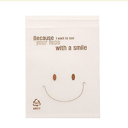 Seguryy 50pcs Big Smile Cello Cellophane DIY Cookies Cake Candy Treat Bags Self Adhesive For Party Birthday