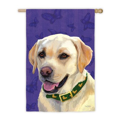 Yellow Lab Garden Flag Size: 43