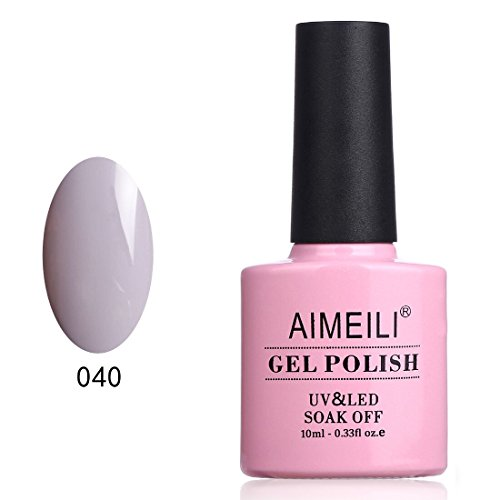 AIMEILI Soak Off UV LED Gel Nail Polish - Cashmere Kind of Gal (040) 10ml
