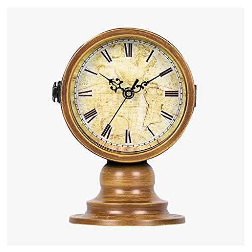 *reloj de mesa Relojes de mesa para la sala de estar Decoración Dormitorio Doble cara