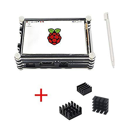 Etoput Raspberry Pi 3.5 inch TFT LCD Touch Screen with 9 Layers Case (for pi 3 b+) by Etoput