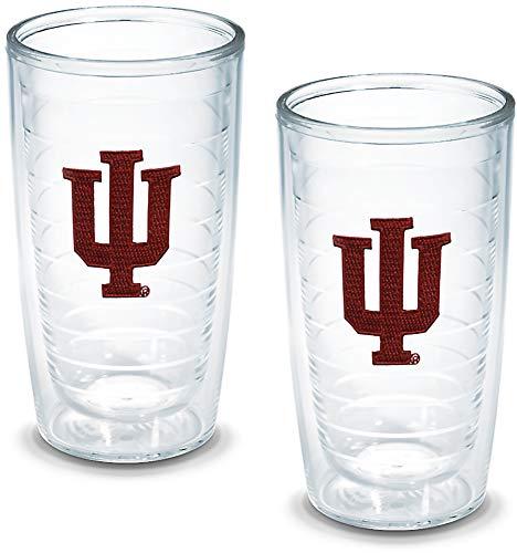 - Tervis 1005868 Indiana University Emblem Tumbler, Set of 2, 16 oz, Clear