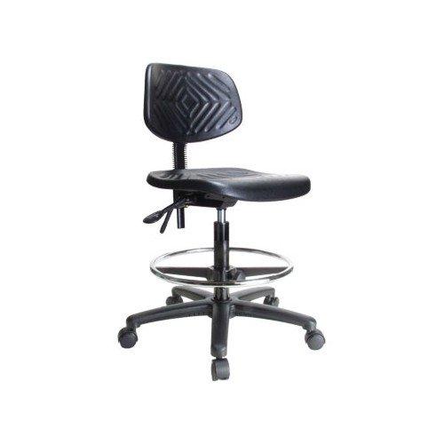 "Perch Ergonomic Industrial Chair 20"" - 28"" w/Footring"