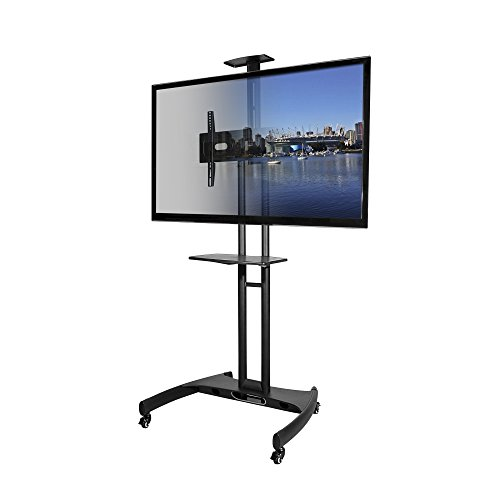 Kanto MTM65PL Mobile TV Stand with Mount for 37 to 65 inch Flat Panel Screens - Black ()